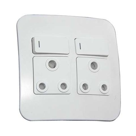 VG22WTC Double 2x16A Socket Complete White
