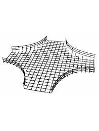 Wire Mesh Cable Tray 100x50MM 4Way Crossover, Radius 160
