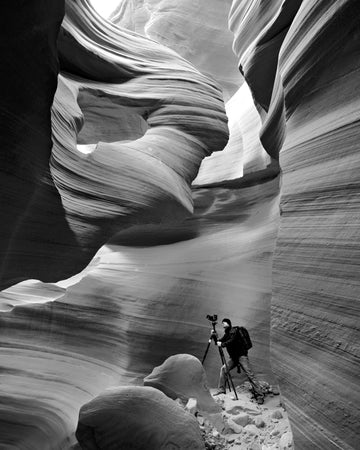 Peter Lik portrait captured in Antelope Canyon, location of his epic photo, Phantom.
