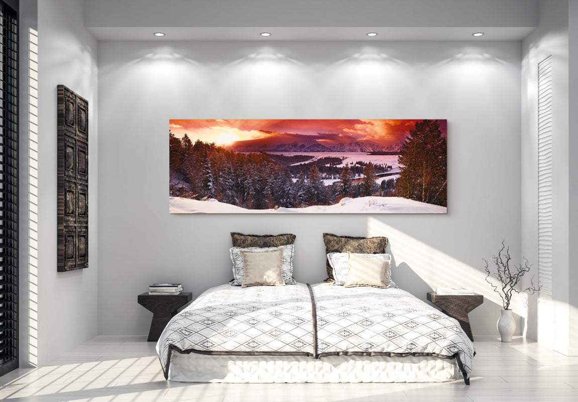 Mountain Glow in Home