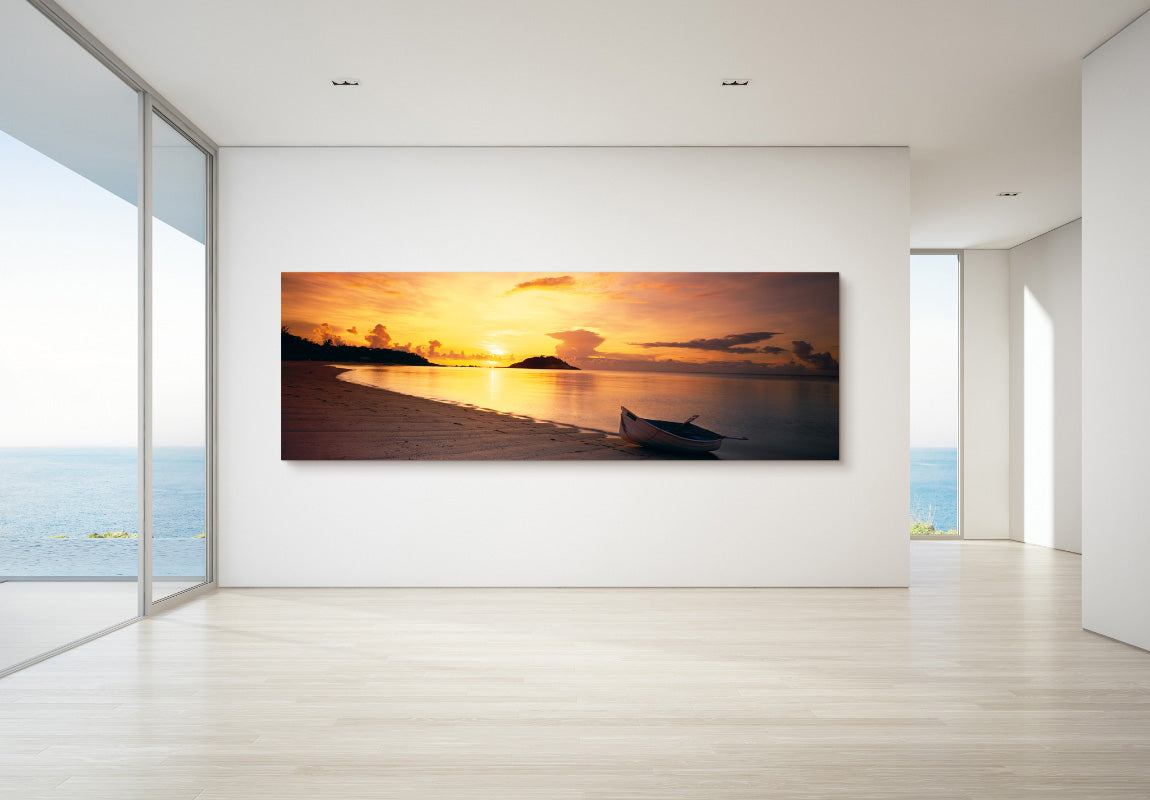 Rowboat Sunset in Home