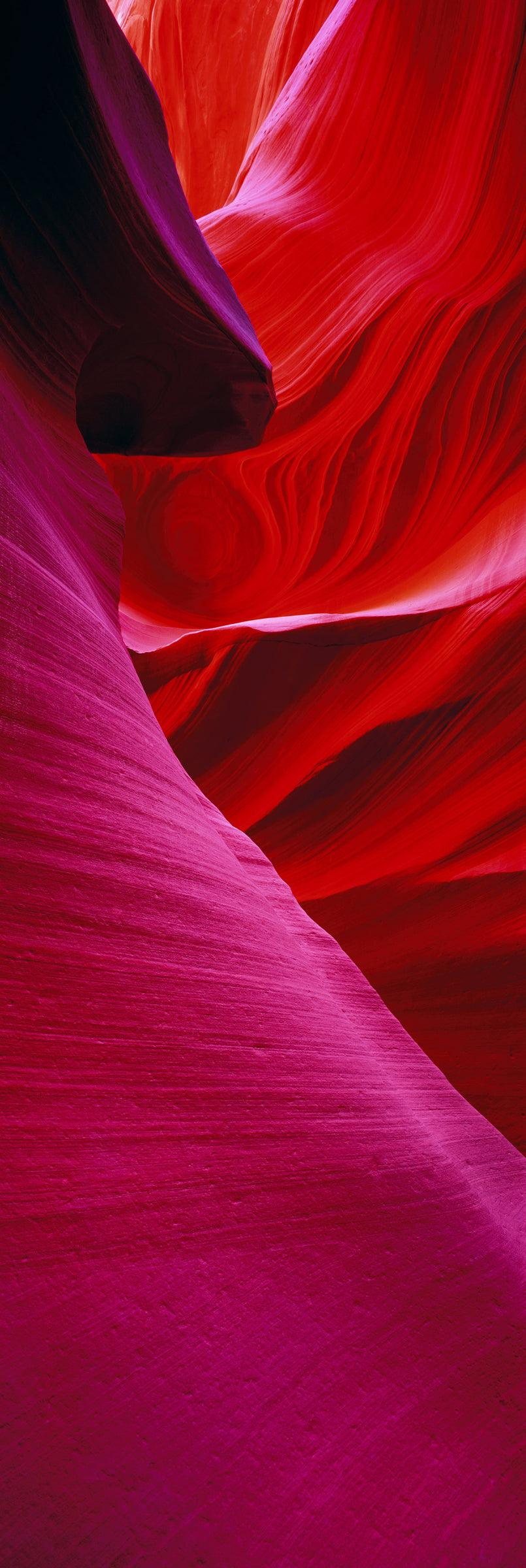 Red and pink sandstone walls of the slot canyons in Antelope Canyon Arizona