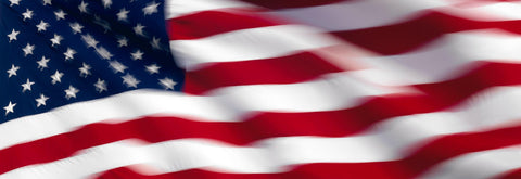 Close up of the American flag slightly blurred as it blows in the winds of Las Vegas Nevada