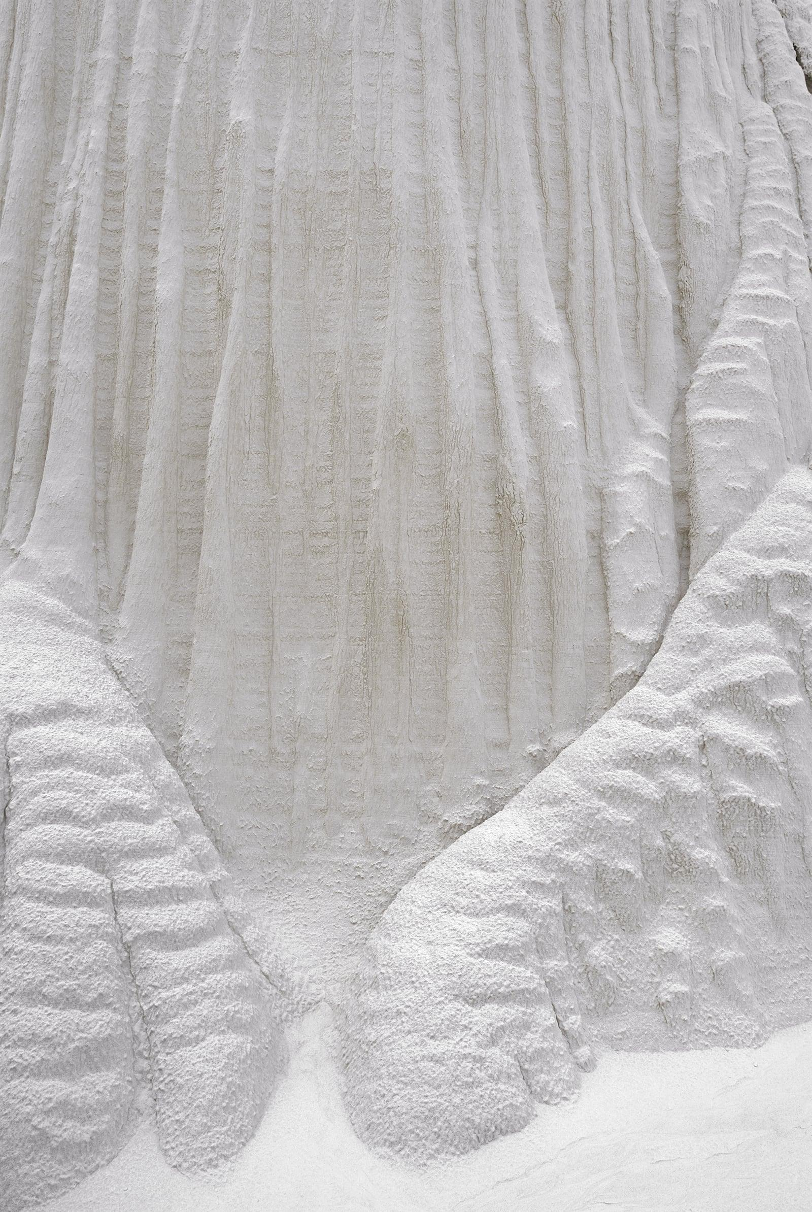 Close up of a white sandstone rock formation at the Wahweap Hoodoos Utah