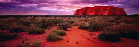 Sunset at Uluru Rock in the Northern Territory desert of Australia