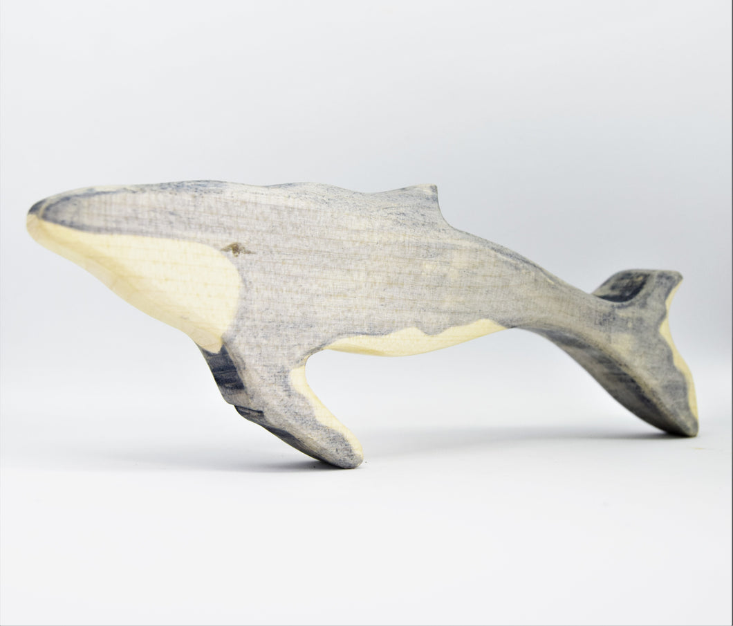 Wooden Humpback Whale Calf - Eric & Albert's Crafts