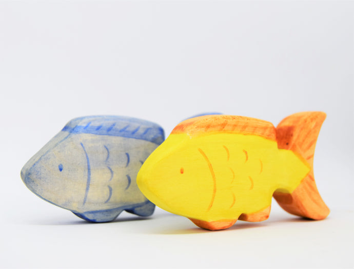 Wooden Blue or Orange Fish - Eric & Albert's Crafts