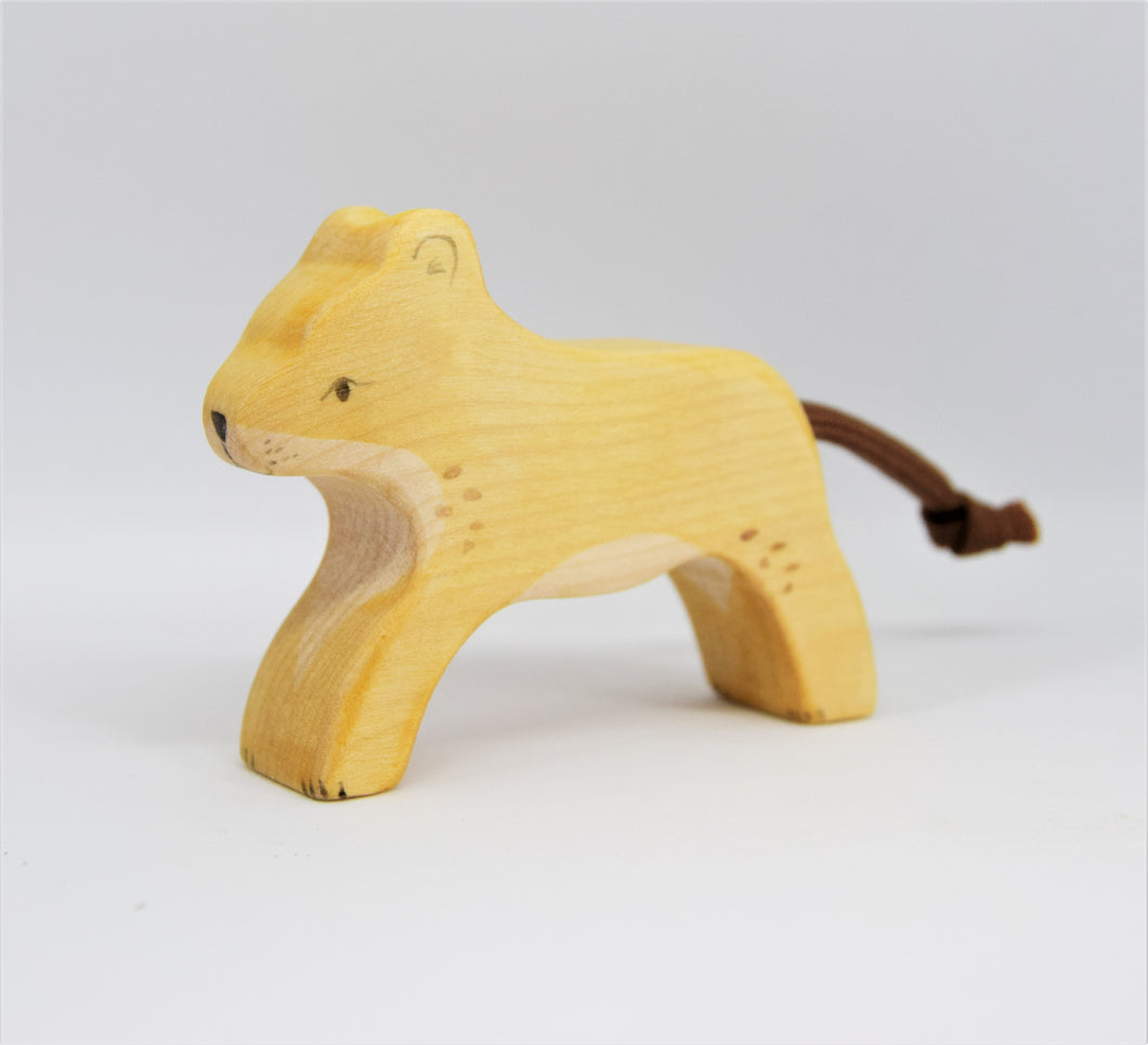 Wooden Lion Cub - Eric & Albert's Crafts