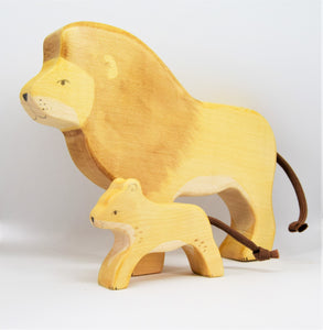 Wooden Lion Cub - Eric & Albert