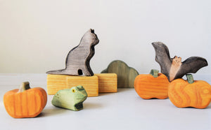 Wooden Pumpkin - Eric & Albert