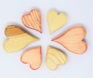 Wooden Heart Set of Three - Eric & Albert