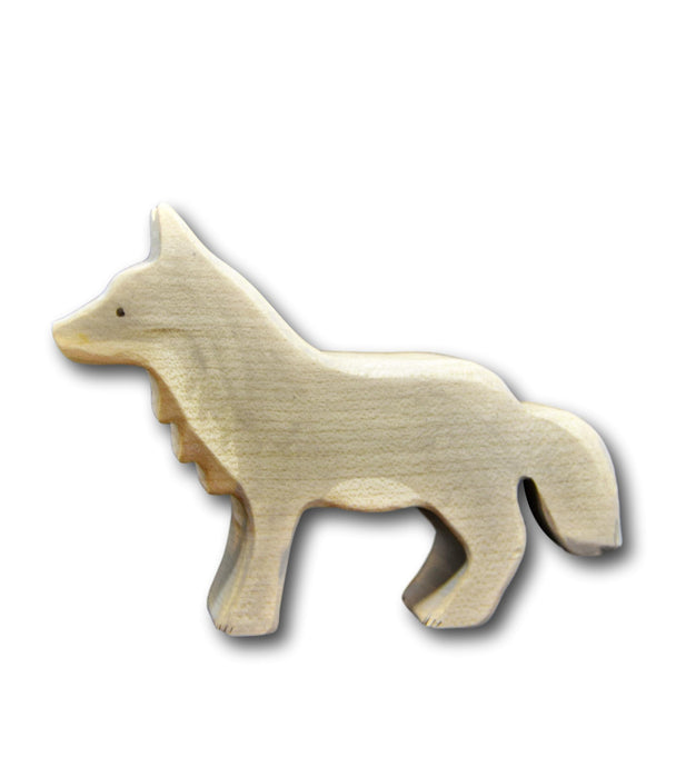 Wooden Standing Wolf - Eric & Albert's Crafts