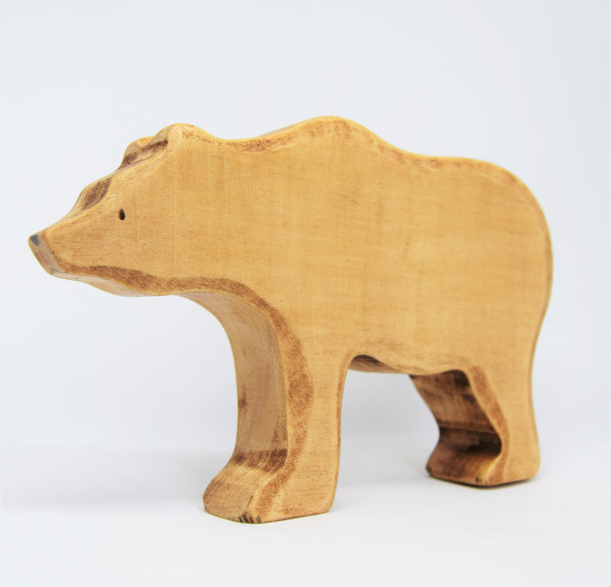 Large Wooden Brown Bear