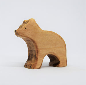 Small Wooden Brown Bear - Eric & Albert
