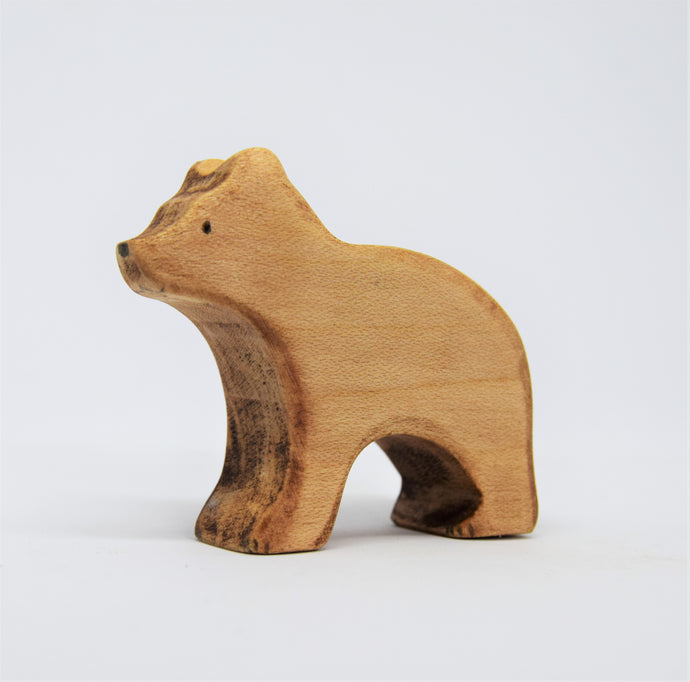 Small Wooden Brown Bear