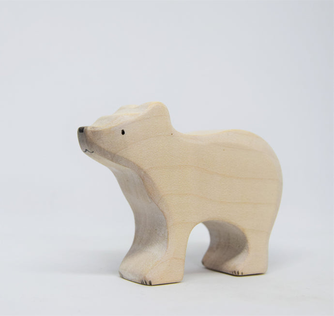 Small Wooden Polar Bear