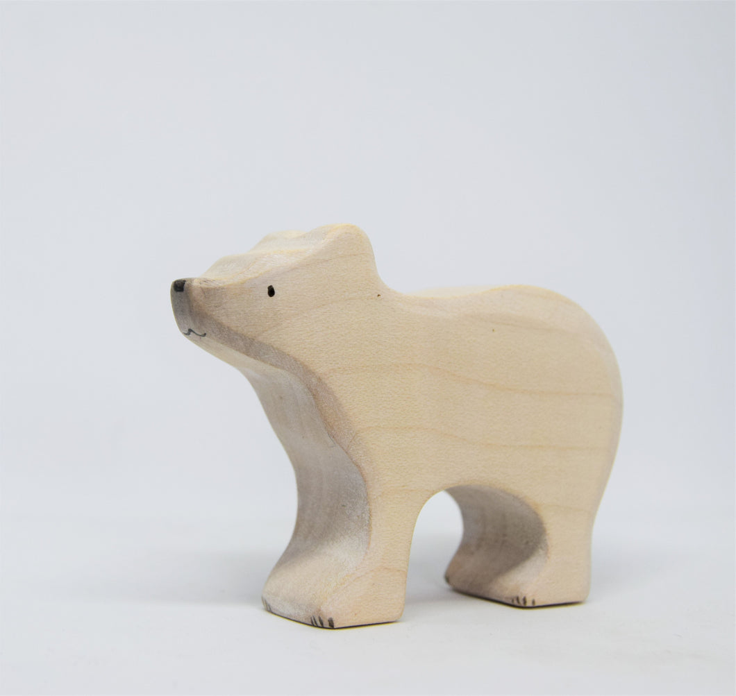 Small Wooden Polar Bear - Eric & Albert's Crafts