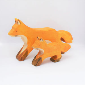 Wooden Fox Cub - Eric & Albert's Crafts