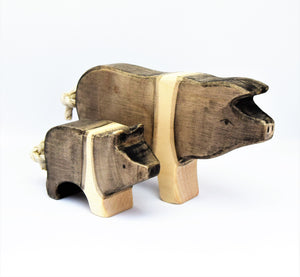 Wooden Saddleback Piglet - Eric & Albert's Crafts