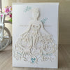 White Dress Wedding Invitation Pocket