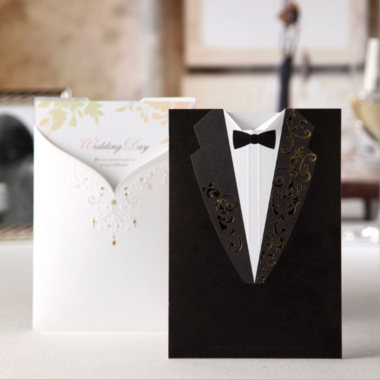 Wedding Invitation Card Dress Pocket