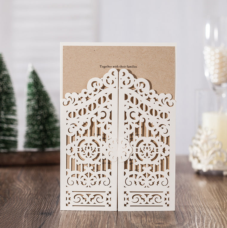 Gate Wedding Invitation Pocket