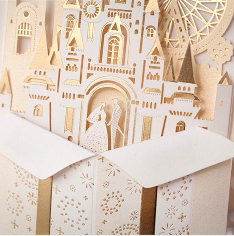 Wedding Invitation Card Castle
