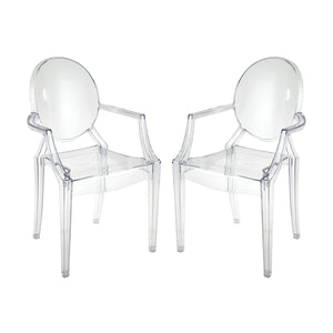 Clear Acrylic Armchairs (Set) - Home Again Palm Beach