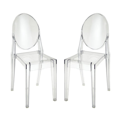 Clear Acrylic Dining Chairs (Set) - Home Again Palm Beach