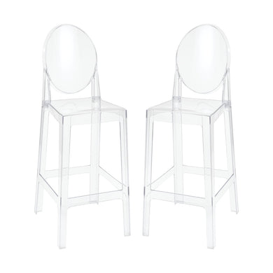 Clear Acrylic Barstool Set - Home Again Palm Beach