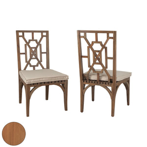 Indoor Outdoor Teak Patio Dining Chairs in (Set) - Home Again Palm Beach