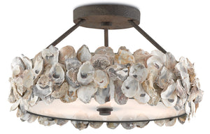 "Currey And Company ""Oyster Semi-Flush"" Chandelier - Home Again Palm Beach"