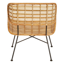 Woven Rattan & Wrought Iron Chair - Home Again Palm Beach