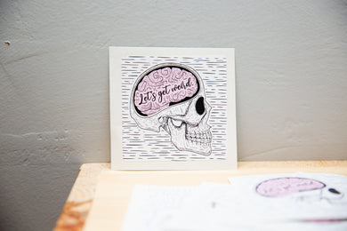 Skull Sticker, Let's Get Weird - Canoe Place Creative