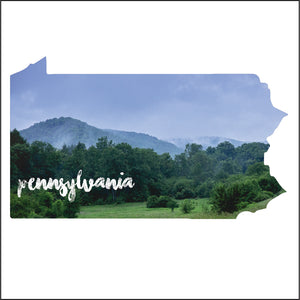 Pennsylvania Sticker - Foggy Hills - Canoe Place Creative