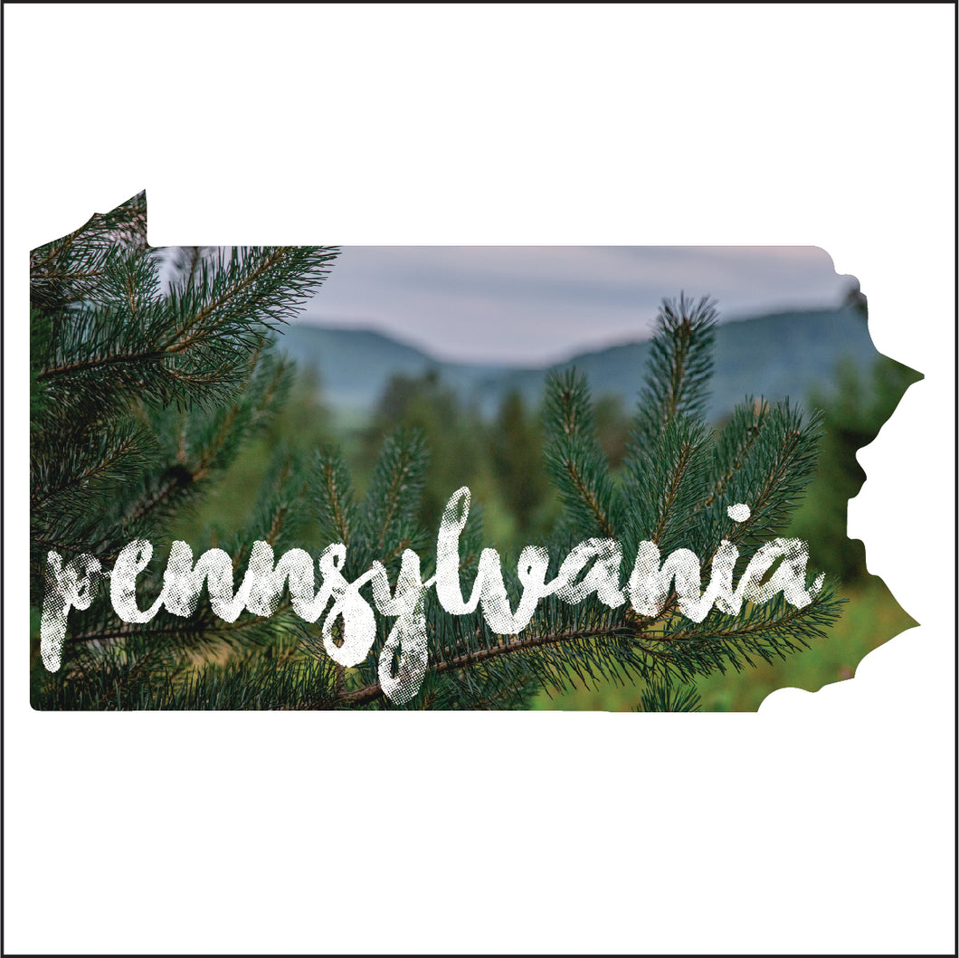 Pennsylvania Sticker - Pine Tree - Canoe Place Creative