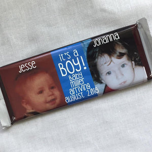 Custom Photo Baby Shower Favor - Hershey Bar Wrapper - Canoe Place Creative
