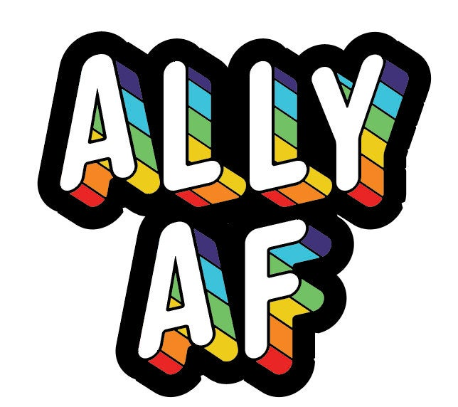 Ally AF - Vinyl Sticker - Canoe Place Creative