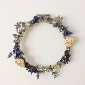 Dried Floral Embroidery Hoop