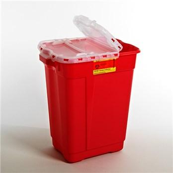 BD™ 17 Gallon Red Multi-purpose Sharps Container 2-Piece Hinged Lid