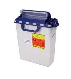 BD™ 3 Gallon Blue Pharmaceutical Waste Container Horizontal Drop Counter Balanced Lid