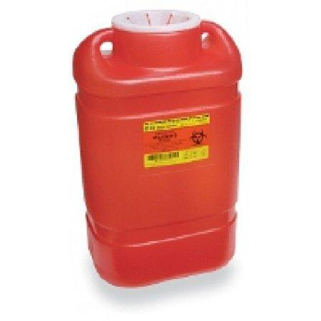 BD™ 5 Gallon Red Multi-purpose Sharps Container 1-Piece Funnel Lid