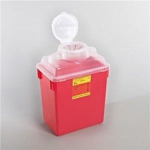 BD™ 6 Gallon Red Multi-purpose Sharps Container 1-Piece Vertical Entry Lid
