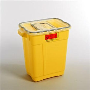 BD™ 9 Gallon Yellow Chemotherapy Sharps Container 2-Piece Sliding Lid
