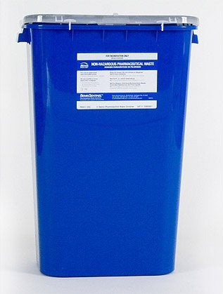Bemis™ Sentinel 11 Gallon Blue Base White Lid Gasketed Hinged Lid