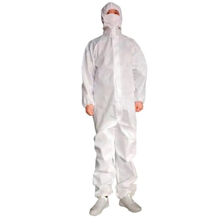 Coverall Cypress Large White Disposable NonSterile