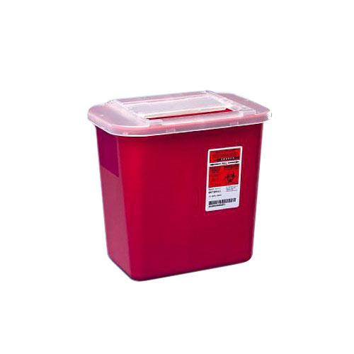 Covidien™ 2 Gallon Red Multi-purpose Sharps Container Sharps-A-Gator™ Sliding Lid