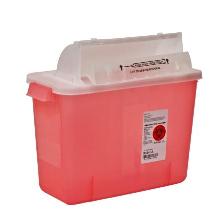 Covidien 8 Quart Multi-purpose Sharps Container SharpStar™ In-Room™ 1-Piece Horizontal Entry Lid