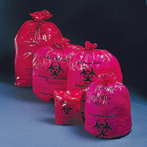 Infectious Waste Bag McKesson 40 - 45 gal. Red Polymer Film 40 X 46 Inch