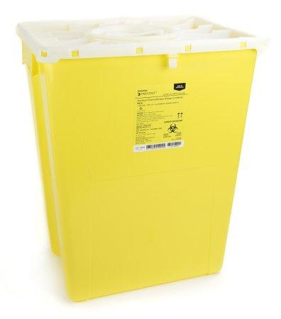 McKesson™ 12 Gallon Yellow Chemotherapy Sharps Container McKesson Prevent®